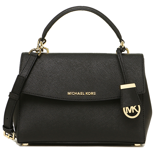 Michael Kors Ava Small Top Handle Leather Satchel Black # 30T5GAVS2L