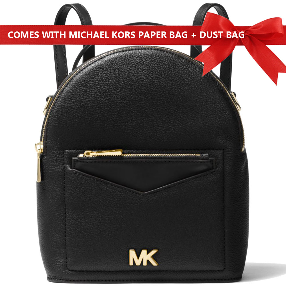 Michael Kors Backpack Jessa Small Convertible Backpack Black # 30T8GEVB5L