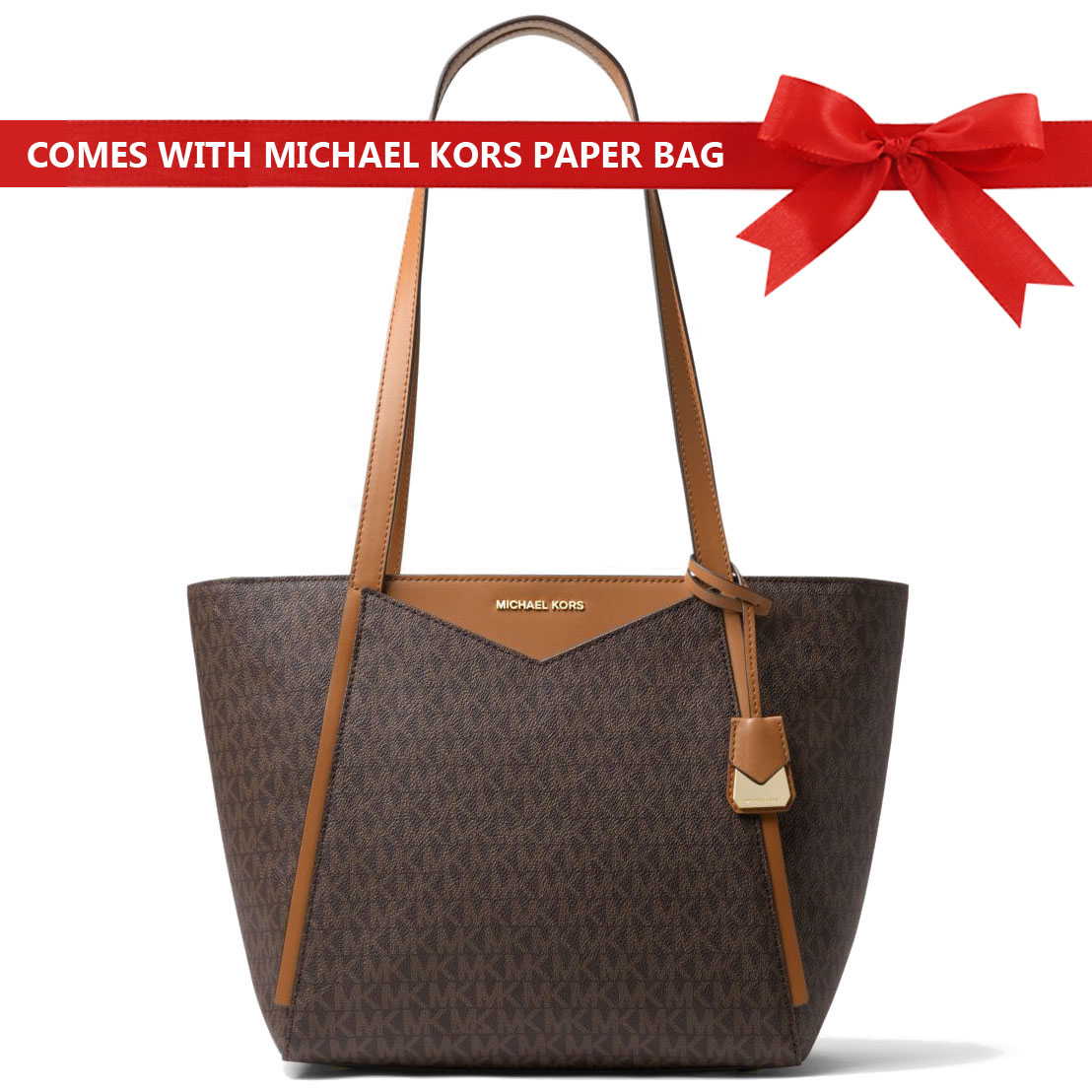 Michael Kors Bag Whitney Small Logo Tote Brown # 30S8GN1T1B