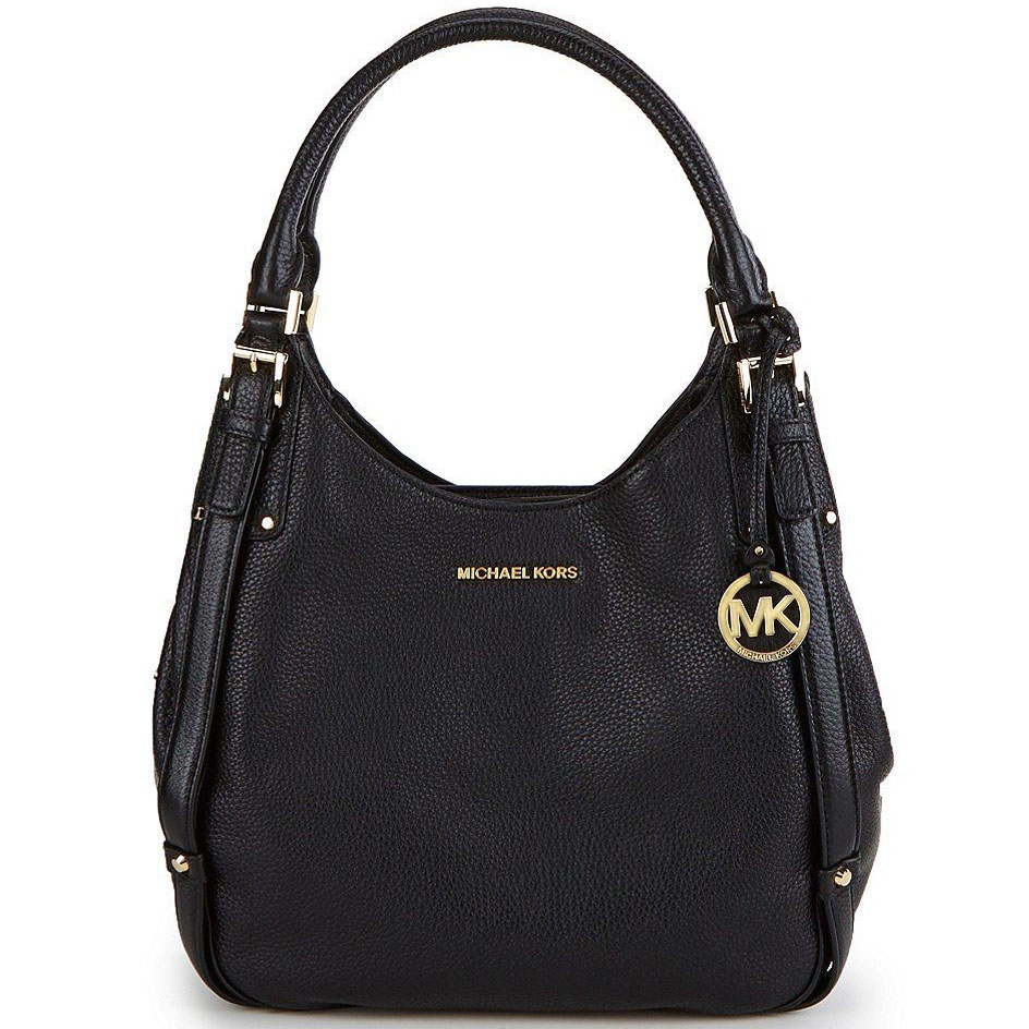 Michael Kors Bedford Belted Large Leather Tote Shoulder Bag Black # 38S7GBFL3L
