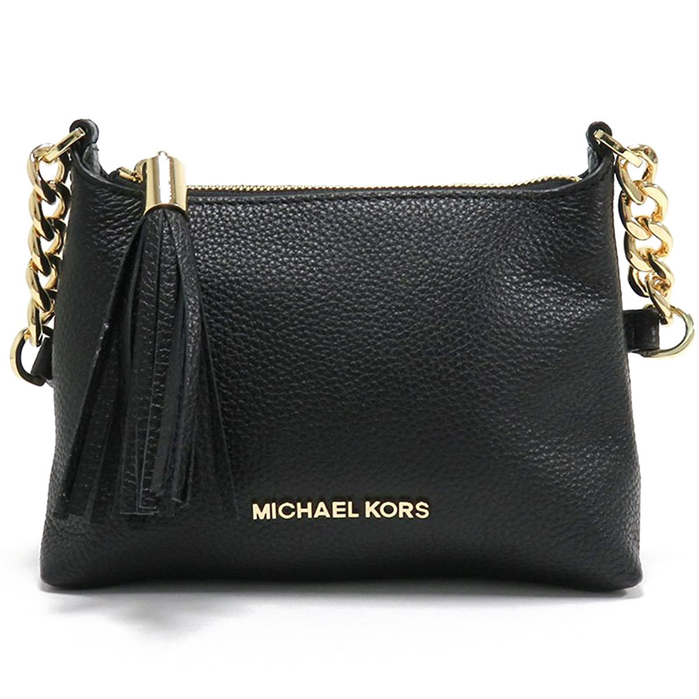 Michael Kors Bedford Leather Crossbody Bag Black # 35H6GBFC3T