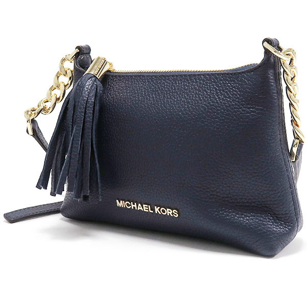 3e8c139b1a3a clearance michael kors bedford leather crossbody bag navy blue 35h6gbfc3t  b3a17 486df