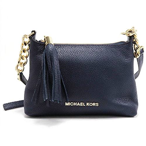 Michael Kors Bedford Leather Crossbody Bag Navy Blue # 35H6GBFC3T