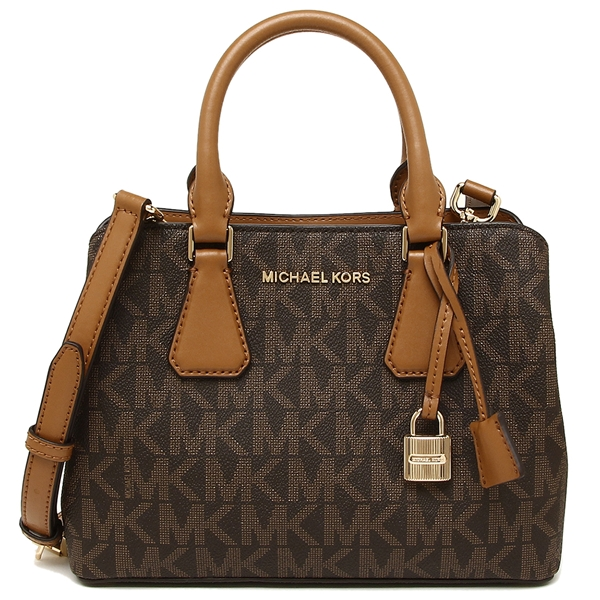 Michael Kors Camille Small Satchel Brown Acorn # 35S8GCAS1B