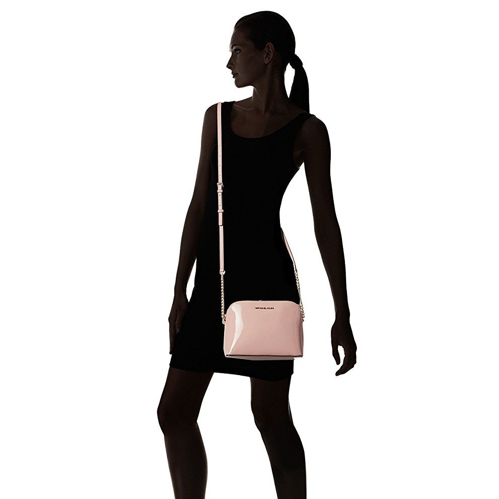 0858dced1e09 SpreeSuki - Michael Kors Cindy Large Dome Crossbody Bag Ballet Pink ...
