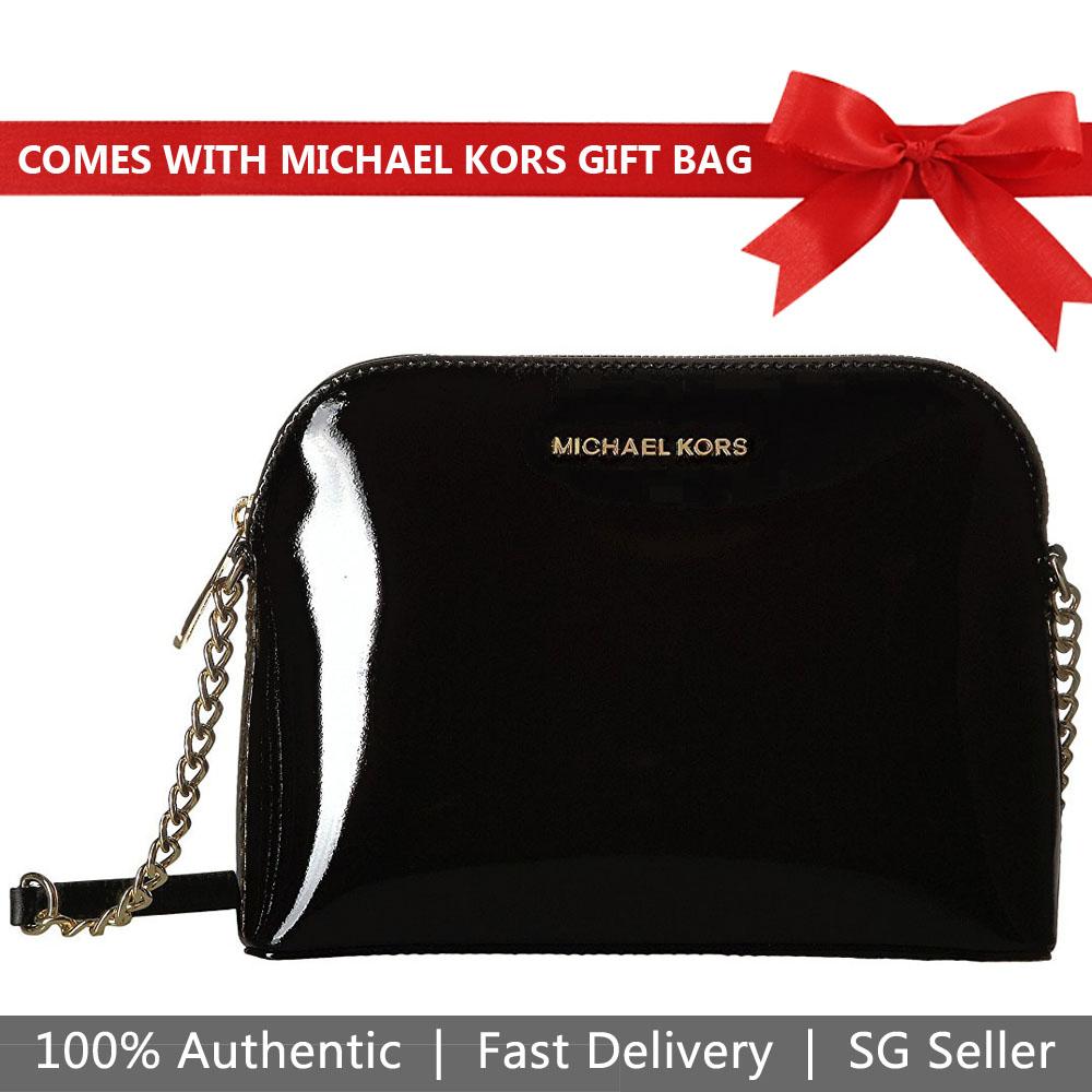53d3f16cc07b Michael Kors Cindy Large Dome Crossbody Bag Black # 32T7GCPC3A