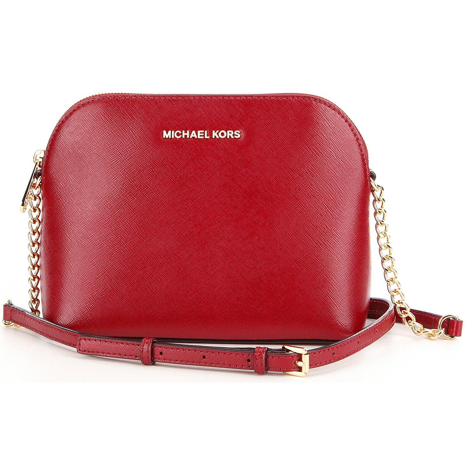Michael Kors Cindy Large Dome Crossbody Cherry Red # 32S6GCPC3A