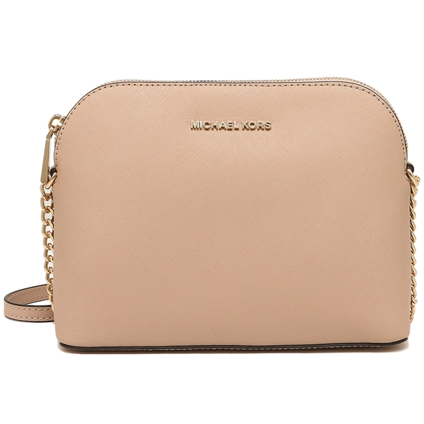 4d8975e2ea53 Michael Kors Cindy Large Dome Leather Crossbody Bag Oyster Nude Beige #  32H4GCPC7L