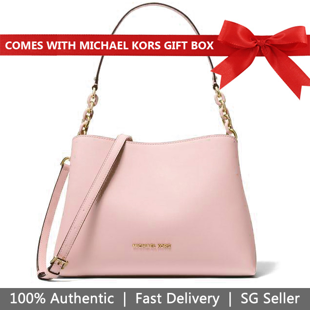 Michael Kors Crossbody Bag In Gift Box Sofia East West Large Satchel Ballet Beige Nude Pink # 35F8GO5S7L