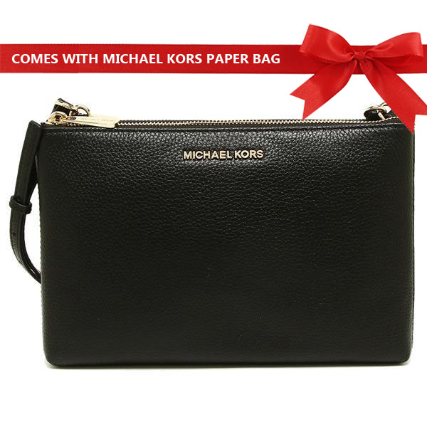 Michael Kors Crossbody Bag Jet Set Travel Double Gusset Crossbody Black # 35F8GTVC3L