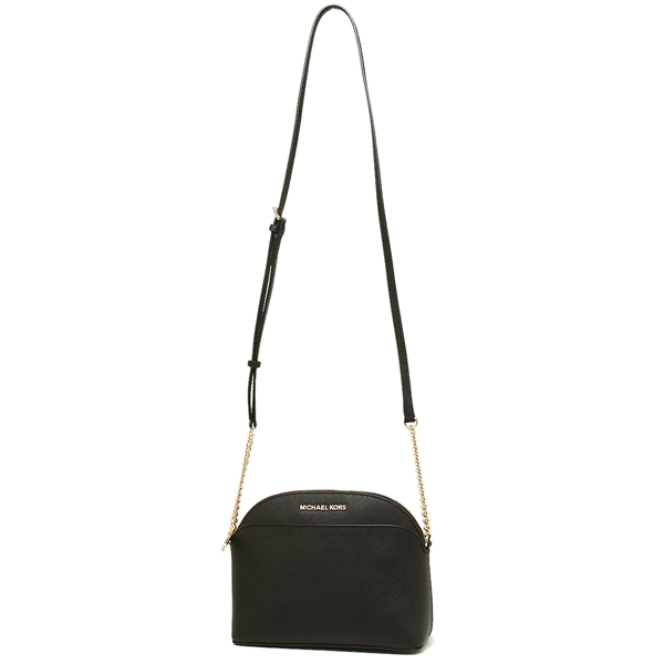 bf1667765652 Michael Kors Crossbody Bag With Gift Bag Emmy Medium Saffiano Leather Dome  Crossbody Black   35H7GY3C2L