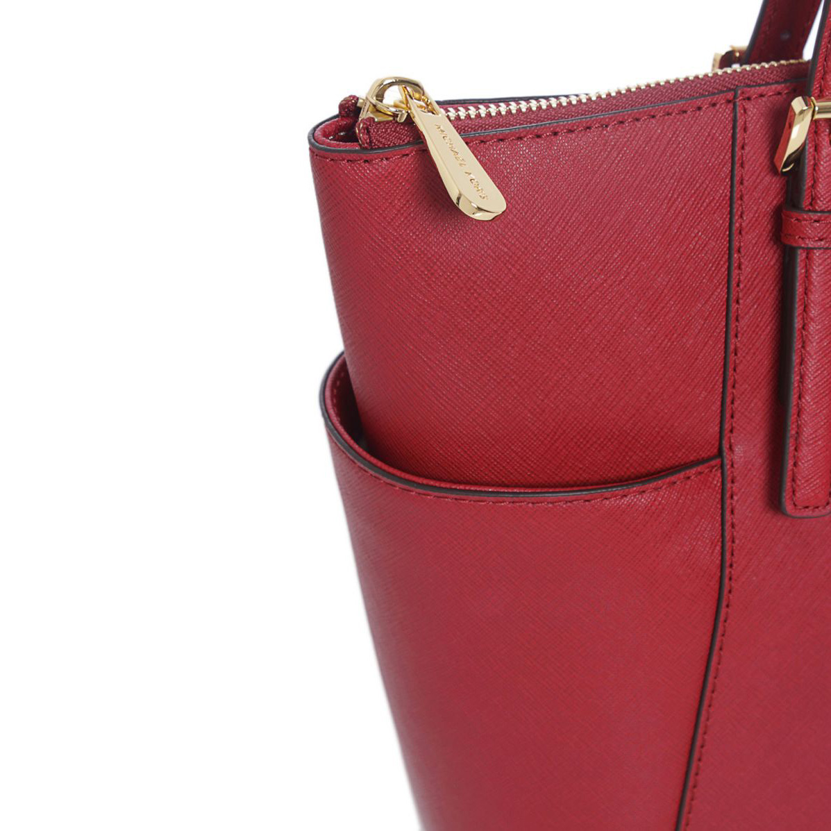 4212d40761ed SpreeSuki - Michael Kors East West Top Zip Leather Tote Cherry Red ...