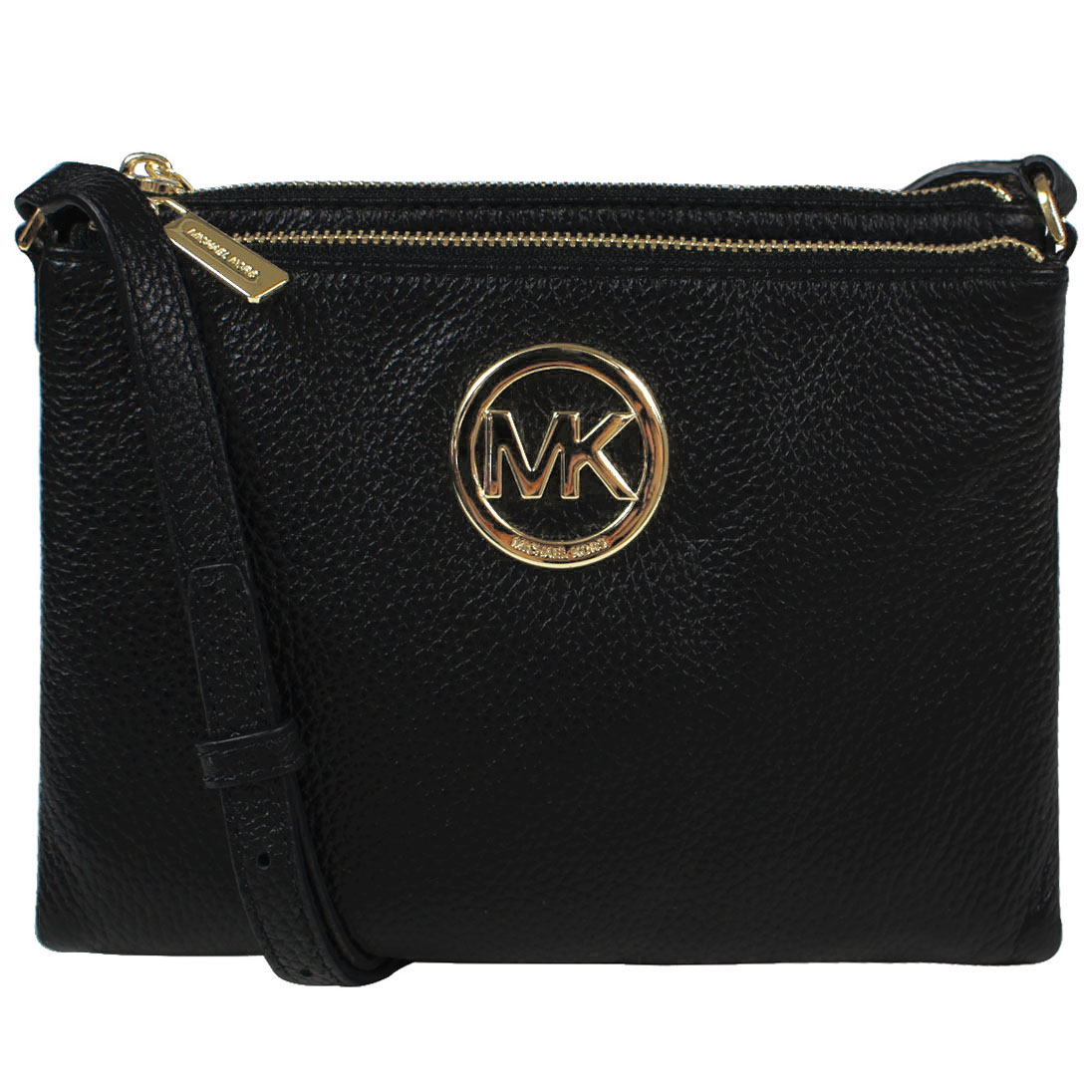 Michael Kors Fulton Leather East West Crossbody Bag Black # 35T6GFTC7L