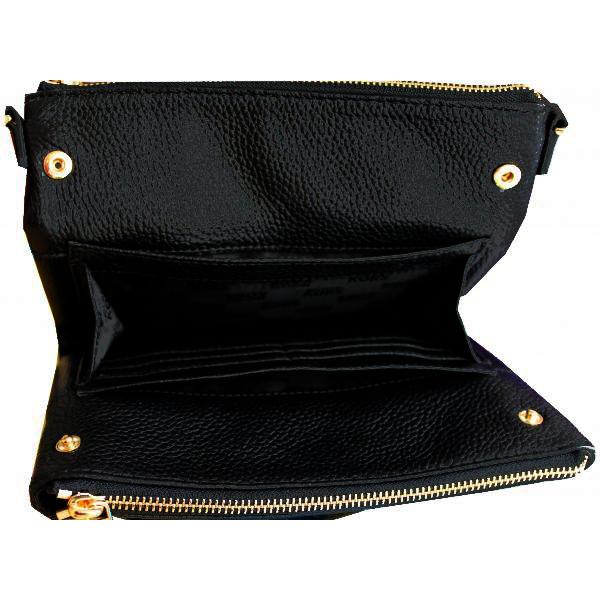 5d095fd583b4 Michael Kors Fulton Leather East West Crossbody Bag Black # 35T6GFTC7L