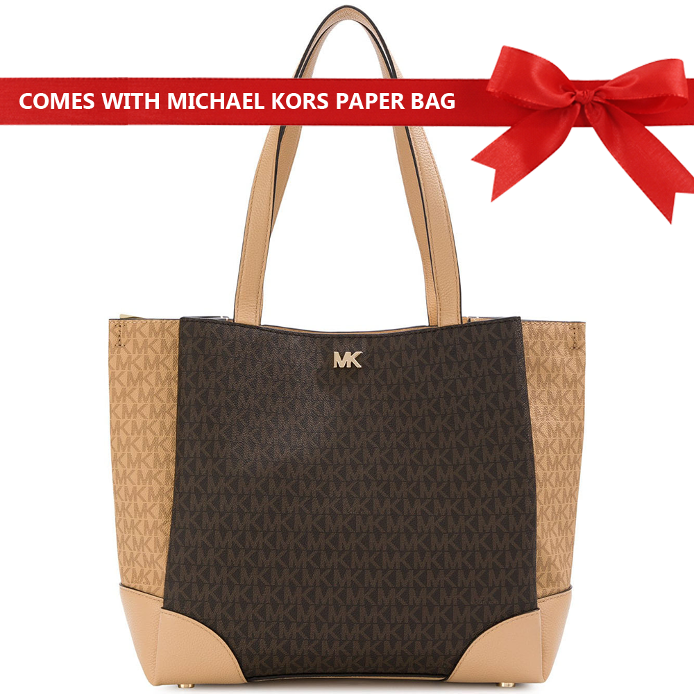 Michael Kors Gala Medium Tote Brown / Butternut # 30T8GKJT2B