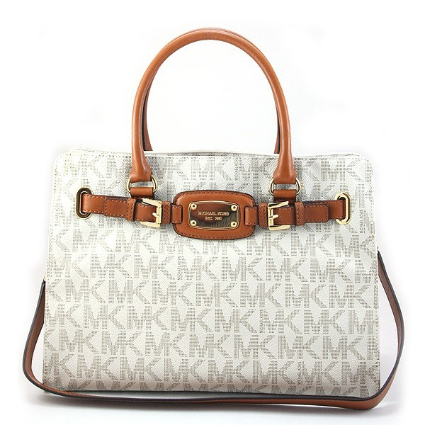 Michael Kors Hamilton Large Signature East West Tote Vanilla # 35F0GHMT3B