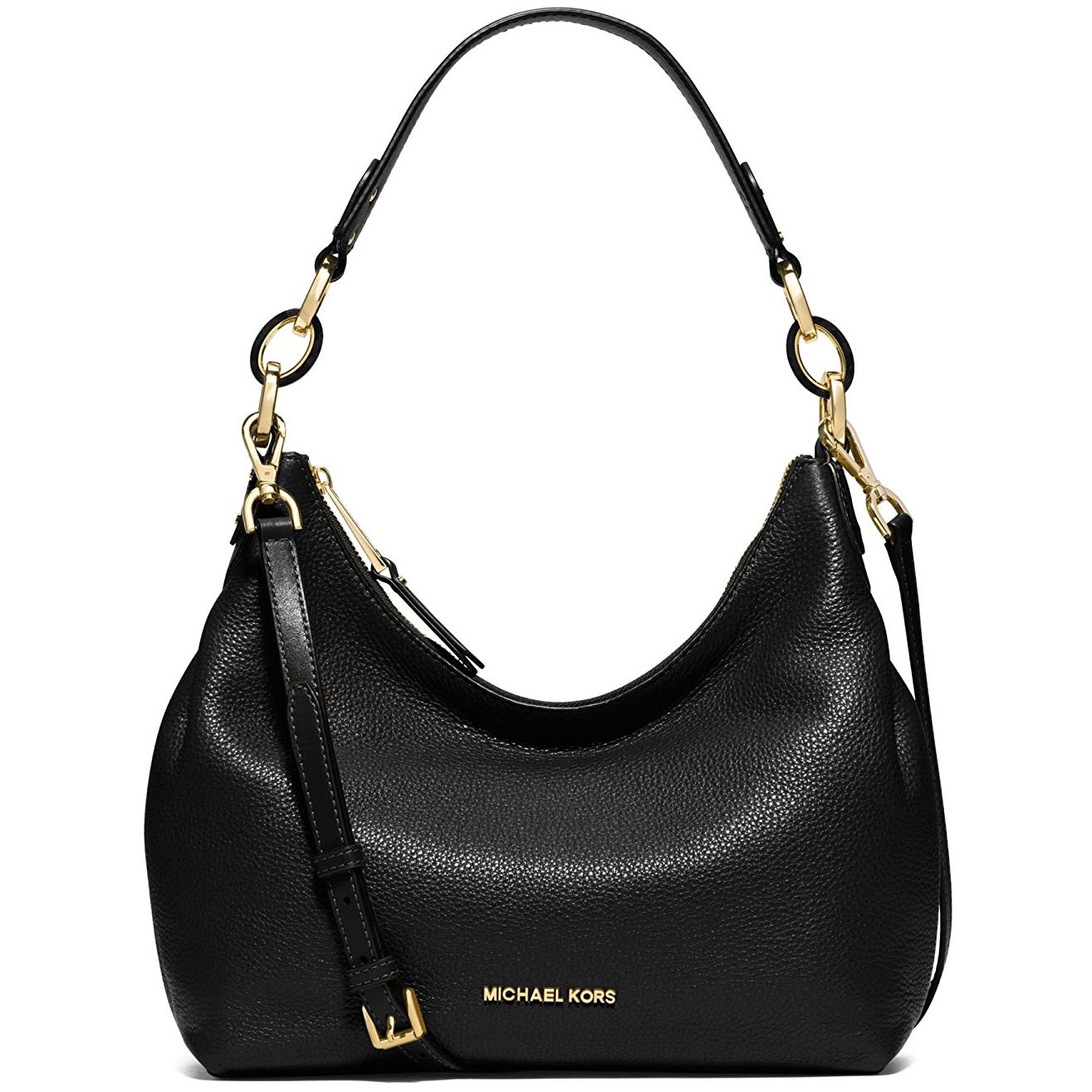 Michael Kors Isabella Large Convertible Leather Shoulder Bag Black # 38T7GIRL3L