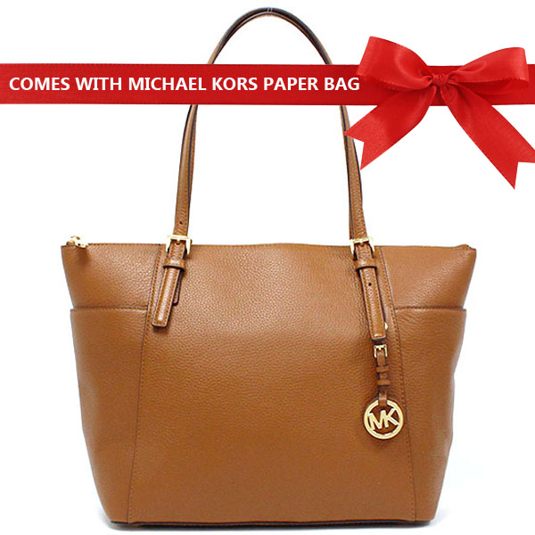 Michael Kors Jet Set East West Large Top Zip Tote Luggage Brown # 35H7GTTT7L