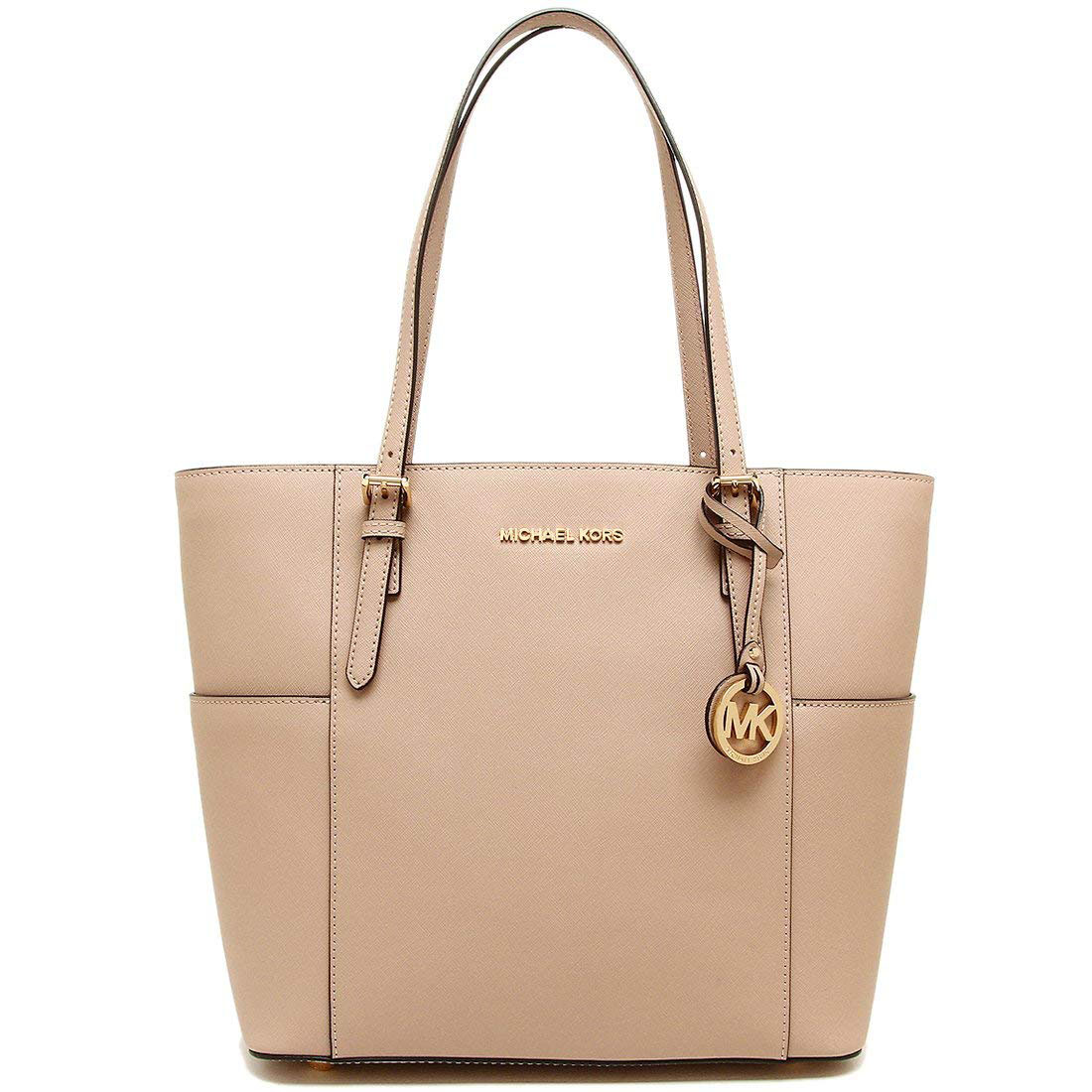 Michael Kors Jet Set Travel Large Leather Tote Butternut Beige # 30T6GTVT3L
