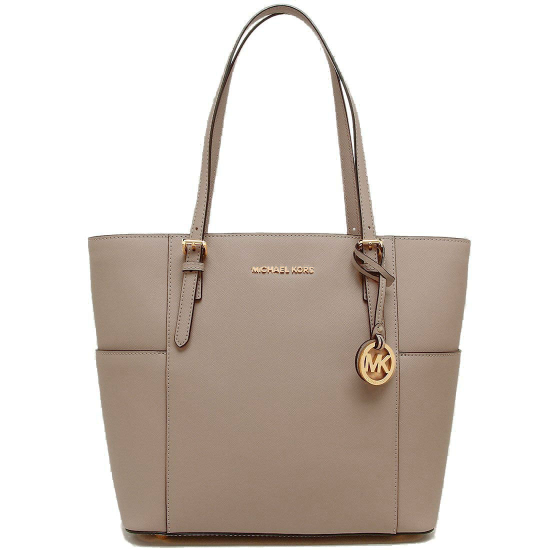 4e221bca910e Michael Kors Jet Set Travel Large Leather Tote Truffle Brown Grey #  30T6GTVT3L