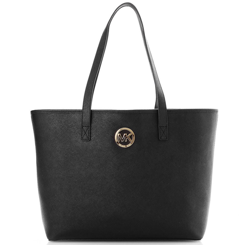Michael Kors Jet Set Travel Medium Travel Tote Shoulder Bag Black # 35S3GTVT2T