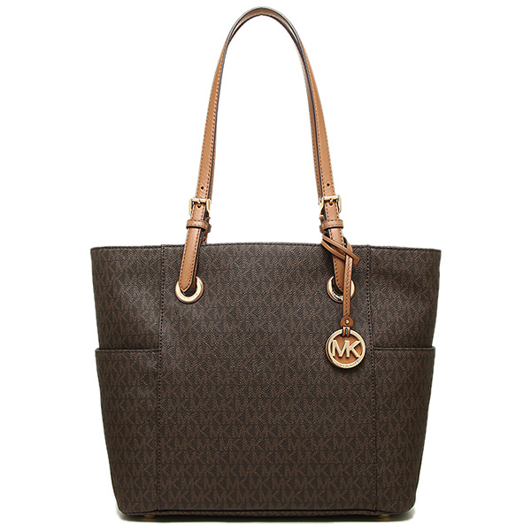 Michael Kors Jet Set Travel Monogram Logo Tote Brown # 30H6GTTT3V