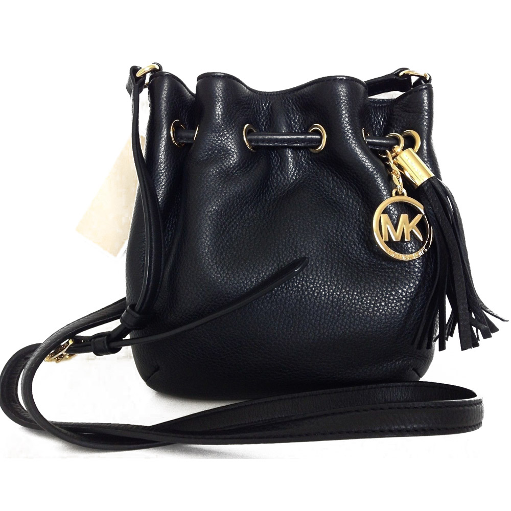 2fc3443b7a8e SpreeSuki - Michael Kors Leather Ring Tote Crossbody Bag Black ...