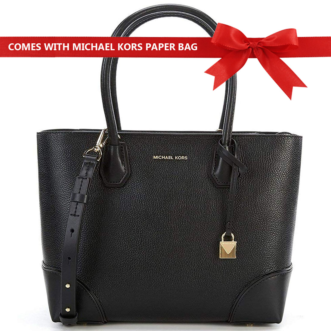 Michael Kors Mercer Gallery Medium East West Top Zip Tote Black # 30S8GZ5T8T