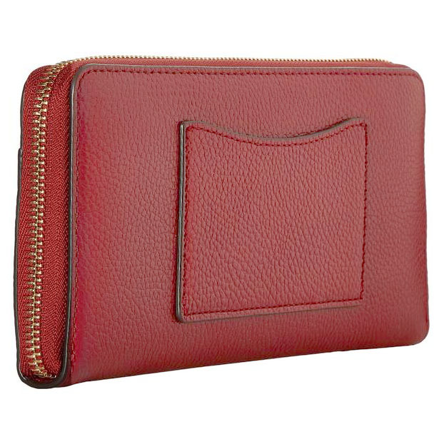 Michael Kors Mercer Pocket Zip Continental Leather Wallet Burnt Red # 32S7GM9E9L