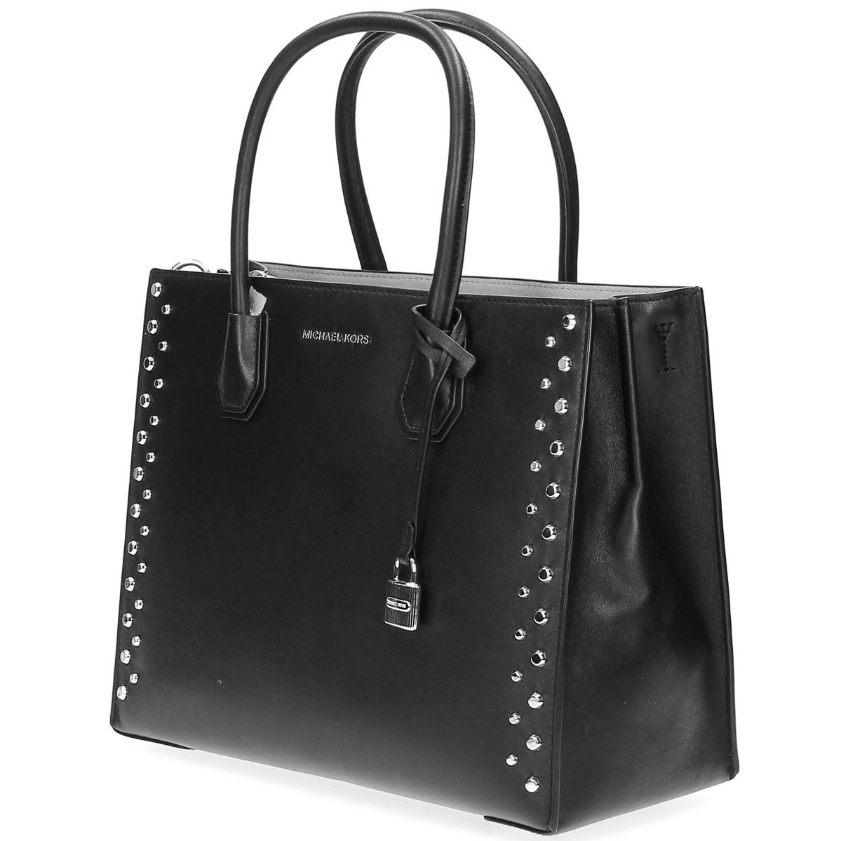 05fdab81a00e Michael Kors Mercer Stud & Grommet Large Convertible Leather Tote Black #  30S7SZ4T3L