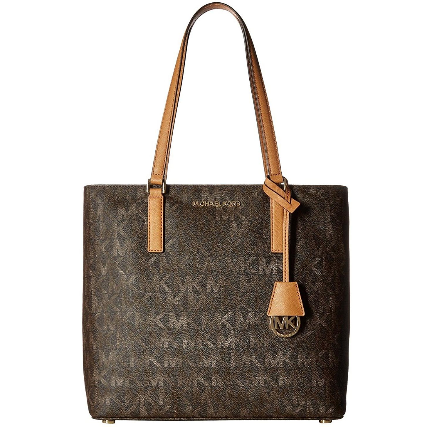 Michael Kors Morgan Brown Signature Medium Tote Brown # 38H6GOGT2B