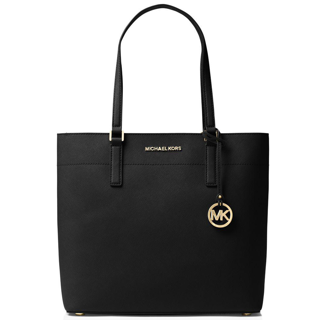 Michael Kors Morgan Large Leather Tote Black # 38F7G0GT3L