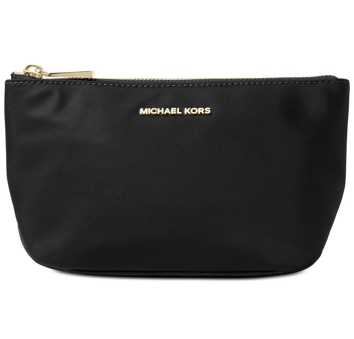 Michael Kors Penny Medium Travel Pouch Cosmetics Makeup Pouch Black # 32F7GP4T2C