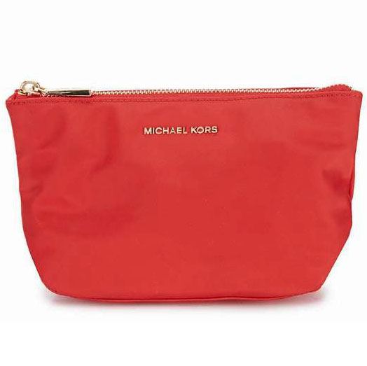 Michael Kors Penny Medium Travel Pouch Cosmetics Makeup Pouch Bright Red # 32F7GP4T2C
