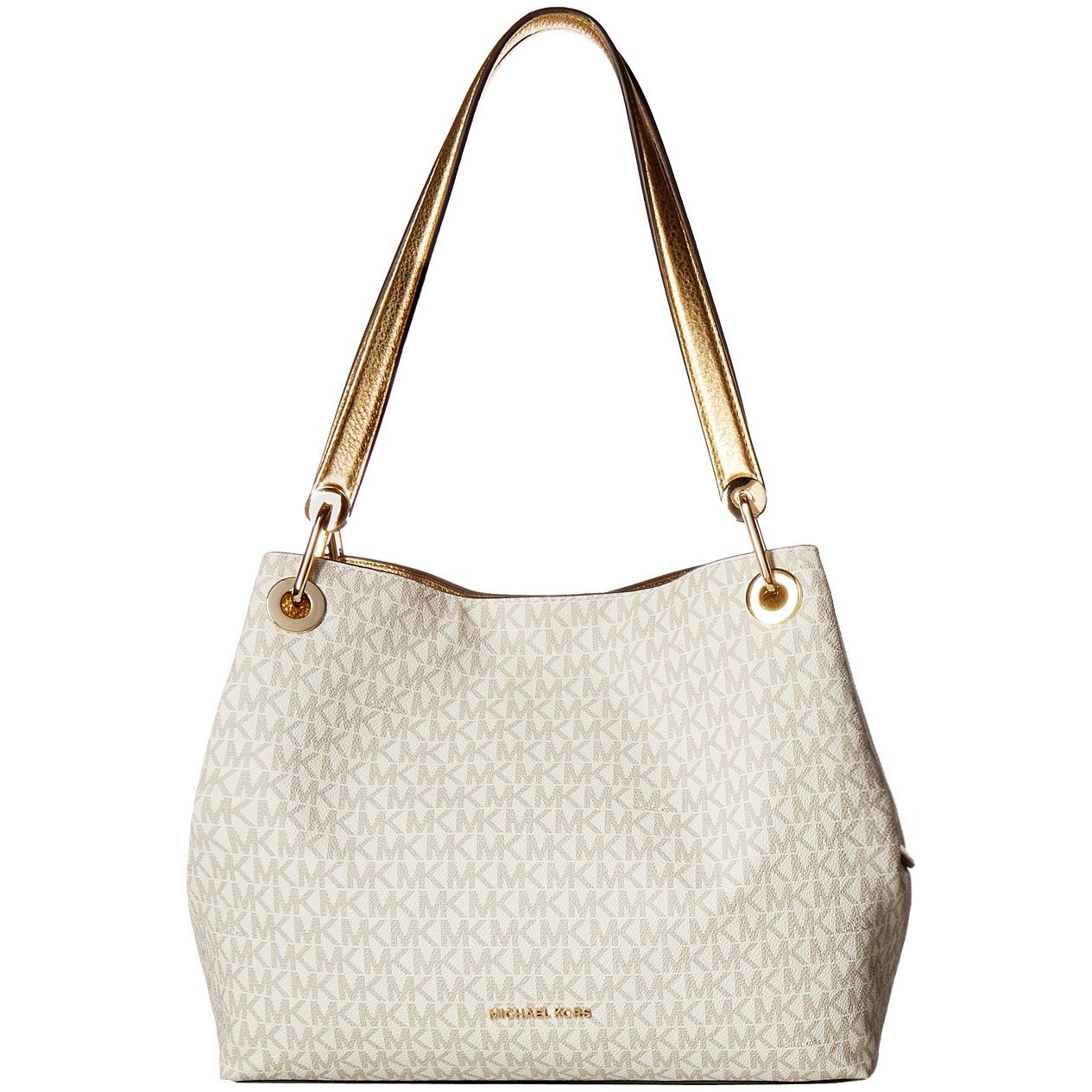 Michael Kors Raven Large Shoulder Tote Bag Vanilla Cream White / Gold # 30H7MRXE3B