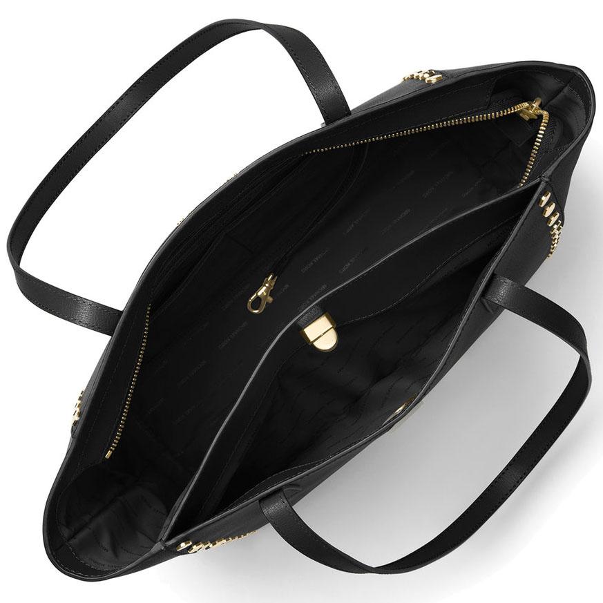 8f0946bdb020 SpreeSuki - Michael Kors Rivington Stud Large Leather Tote Black ...