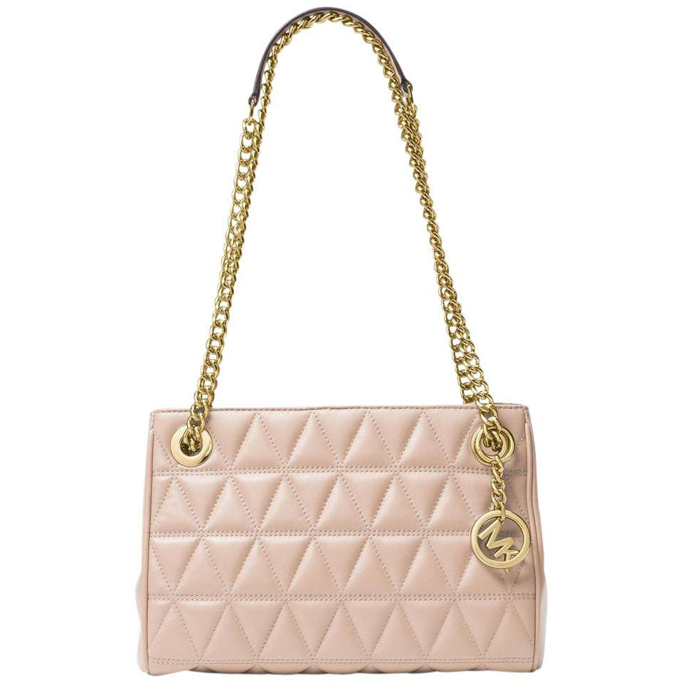 Michael Kors Scarlett Medium Leather Messenger Soft Pink # 30S7GETM2L