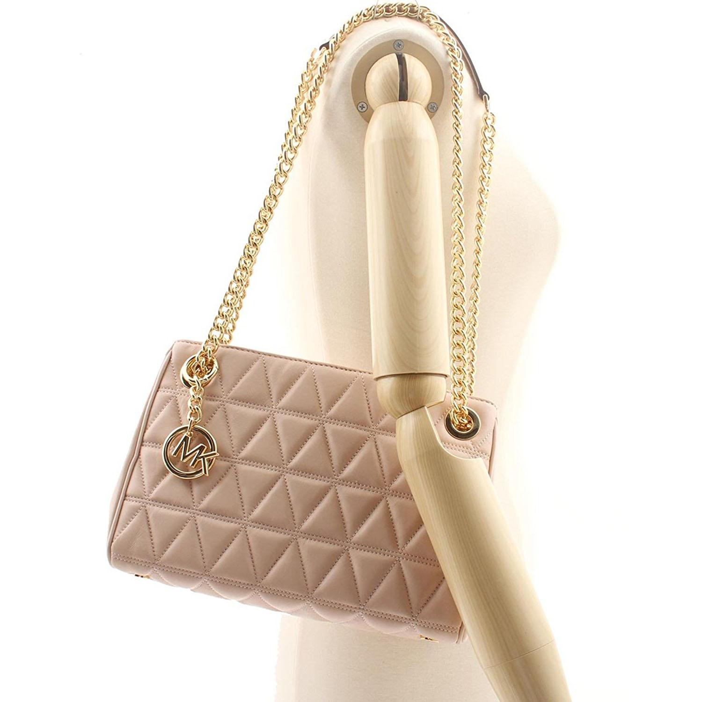 64dc4cf2b3750b SpreeSuki - Michael Kors Scarlett Medium Leather Messenger Soft Pink ...