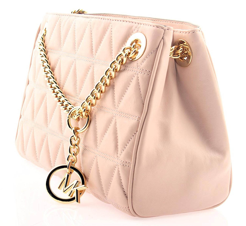 501bb5fb911e SpreeSuki - Michael Kors Scarlett Medium Leather Messenger Soft Pink ...