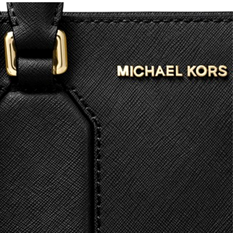 e4d5317bdd7a Michael Kors Selby Medium Leather Satchel Crossbody Bag Black   38F7GEYS2L