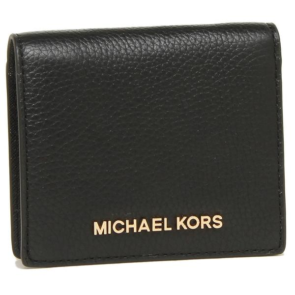 Michael Kors Wallet In Gift Box Small Wallet Jet Set Travel Md Carryall Card Case Black / Gold # 35H8GTVD2L