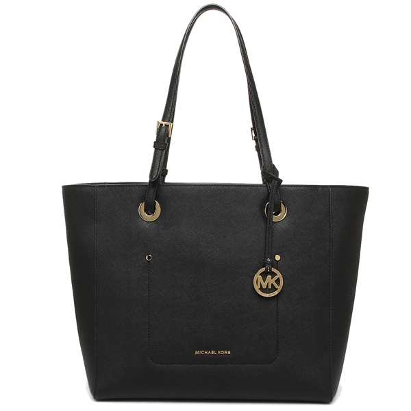 Michael Kors Walsh Large East West Top Zip Leather Tote Black # 30S7GWAT4L