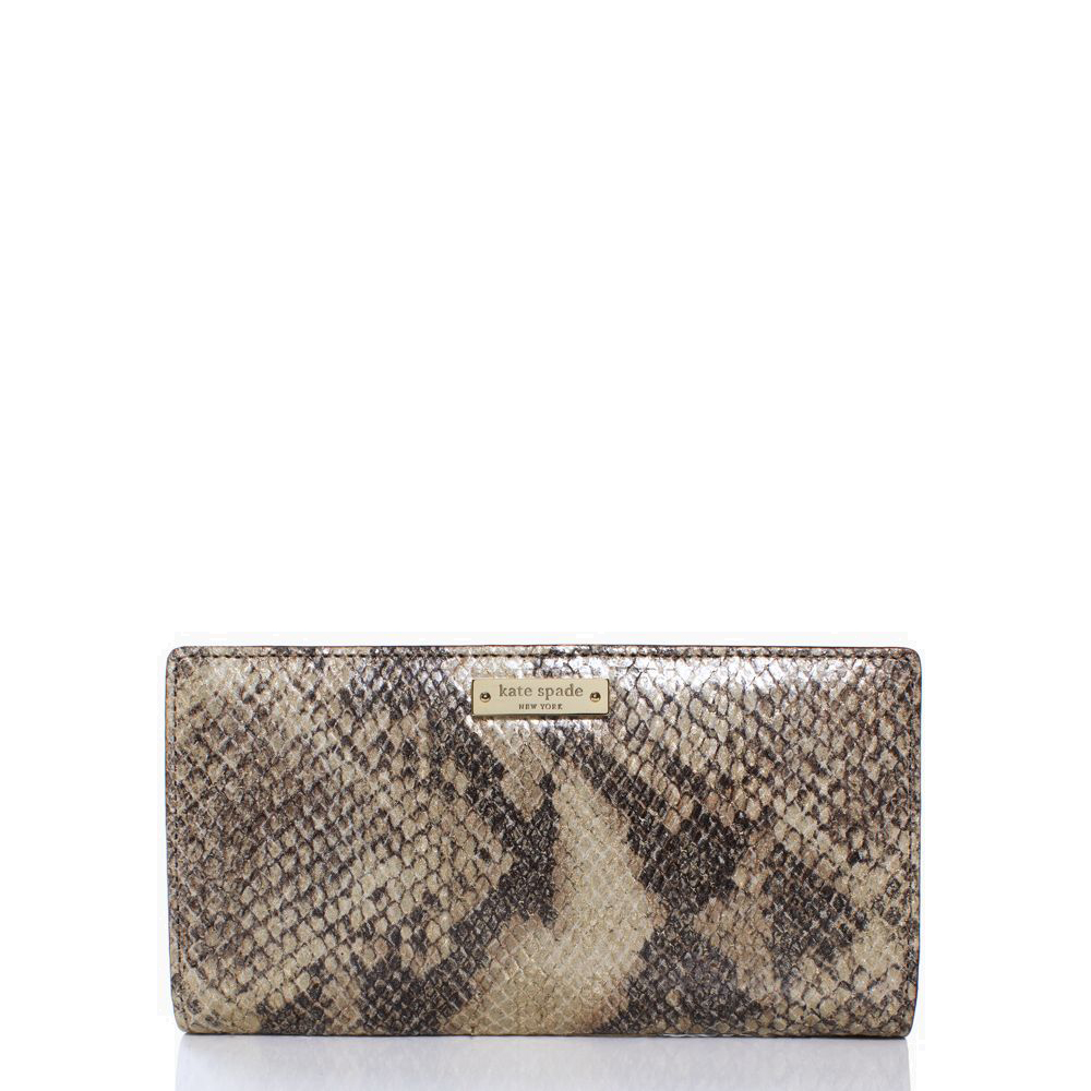 Kate Spade Cobble Hill Stacy Natural Metallic # PWRU3012