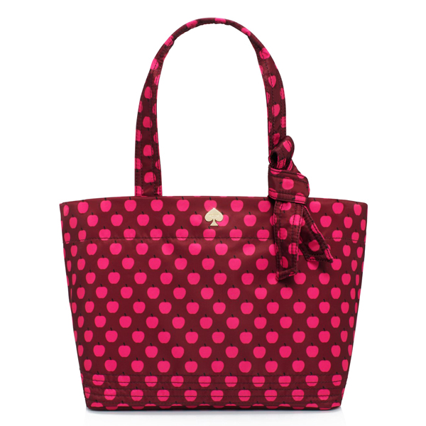 Kate Spade Flatiron Nylon Sophia Grace Baby Bag Bacchus Red New York Apple # PXRU4234