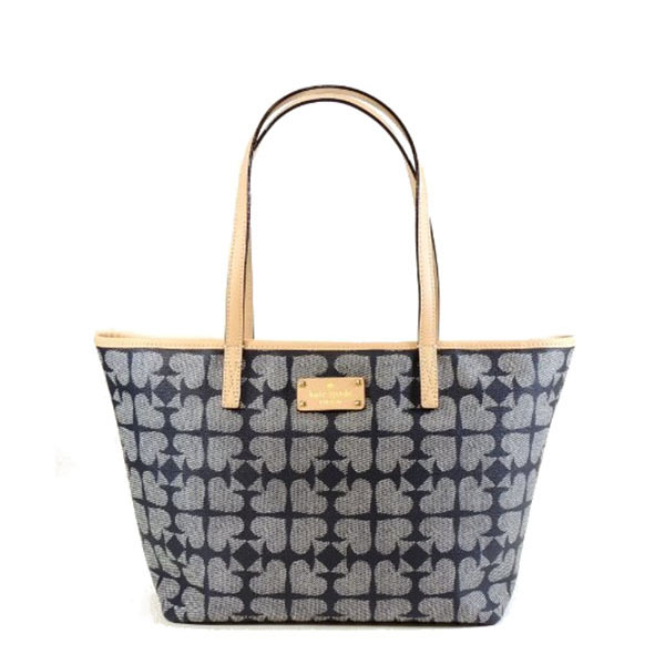 Kate Spade Pebbled Ace of Spades Small Harmony Navy