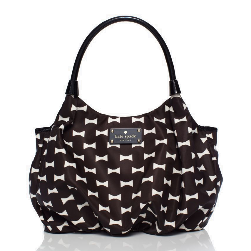 Kate Spade Bow Shoppe Small Karen Black / Cream # WKRU2114
