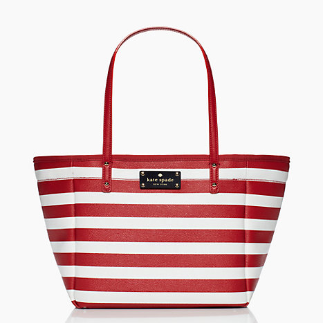 Kate Spade Kennywood Small Sidney Red / White