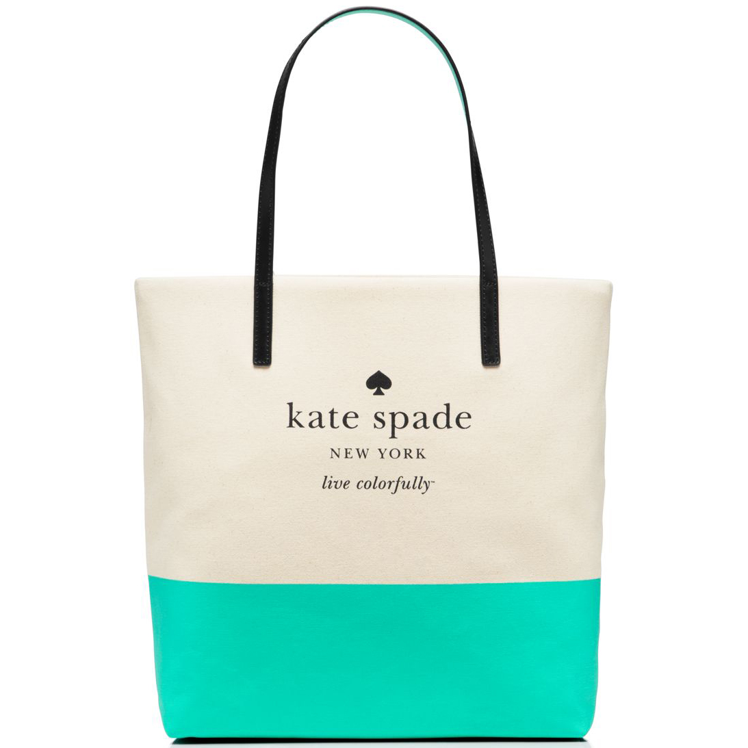 Kate Spade Basin View Bon Shopper Natural / Giverny Blue # WKRU3039