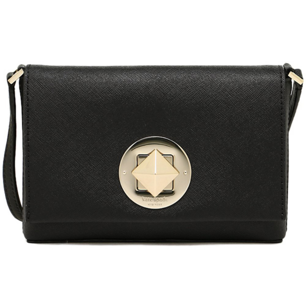 Coach Newbury Lane Sally Saffiano Crossbody Bag Black # WKRU3430