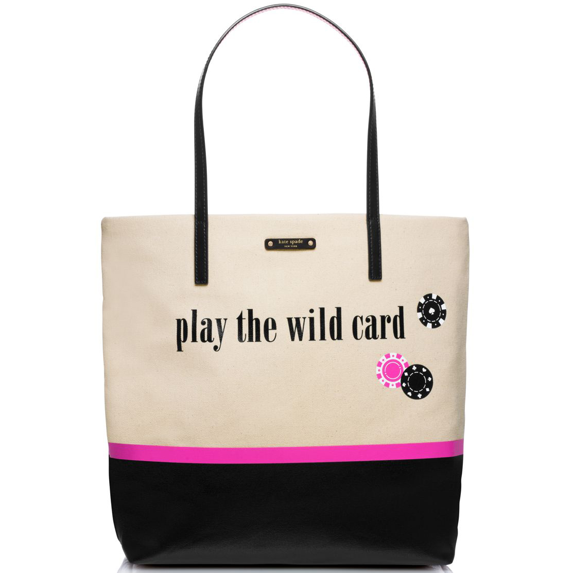 Kate Spade Play The Wild Card Bon Shopper Vegas Print # WKRU3435